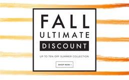 Bandera del web de la promoción de venta con otoño a mano de lujo libre illustration