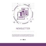 Bandera del web del periódico del uso del hoja informativa con el espacio de la copia Imagen de archivo