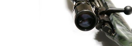 Bandera del Web del rifle Foto de archivo libre de regalías