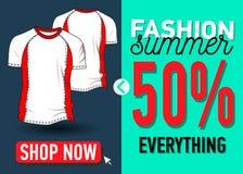 Bandera del web del verano de la moda Venta Imagen de archivo libre de regalías
