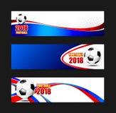 Bandera 2018 del web del fútbol del fútbol 002 Imagen de archivo
