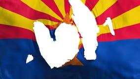 Bandera desigual del estado de Arizona stock de ilustración