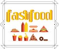 Bandera determinada de la comida rápida Imagen de archivo libre de regalías