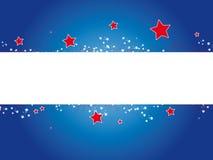 Bandera el 4 de julio Fotografía de archivo libre de regalías