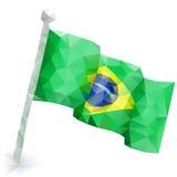 Bandera el Brasil Foto de archivo libre de regalías