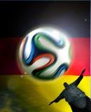 Bandera el Brasil de Alemania Fotos de archivo libres de regalías