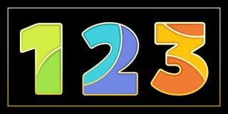 Bandera elegante del mosaico 123 del esmalte Imagen de archivo libre de regalías