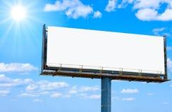 Bandera en blanco para su anuncio fotografía de archivo
