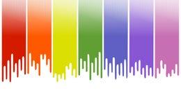 Bandera en colores pastel de la pintura Imagen de archivo