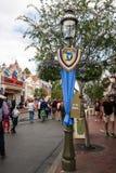 Bandera en Disneyland en 60.o Diamond Celebration Imagenes de archivo