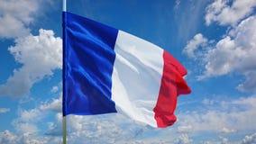 Bandera en el cielo Foto de archivo