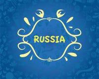 bandera en el tema del arte popular ruso