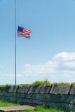 Bandera en Fort Monroe Fotografía de archivo libre de regalías