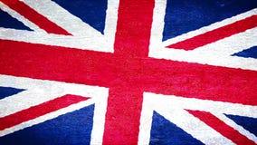 Bandera en la pared - Reino Unido de la pintura metrajes