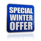 Bandera especial de la oferta del invierno imagen de archivo libre de regalías