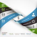 Bandera espiral abstracta de las opciones del steb del negocio. Imagen de archivo