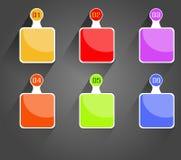 Bandera espiral moderna de las opciones del infographics ilustración del vector