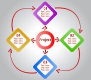 Bandera espiral moderna de las opciones del infographics Fotos de archivo libres de regalías
