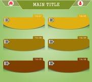 Bandera espiral moderna de las opciones del infographics Foto de archivo