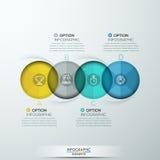 Bandera espiral moderna de las opciones del infographics libre illustration