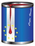 Bandera estilizada de Cabo Verde del envase Imagenes de archivo