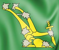 bandera estrellada 1914 del arado 3D stock de ilustración