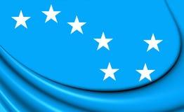 bandera estrellada del arado 3D ilustración del vector