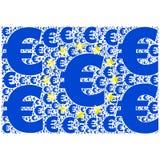 Bandera euro Imagen de archivo libre de regalías