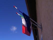 Bandera Europa Italia Fotografía de archivo libre de regalías