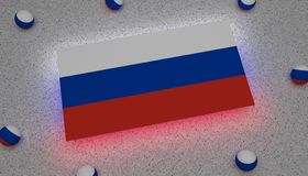 Bandera Europa roja blanca azul Asia Eurasia de Rusia ilustración del vector