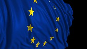 Bandera europea en la c?mara lenta La bandera se convierte suavemente en el viento libre illustration