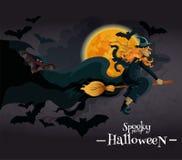 Bandera fantasmagórica de la invitación del partido de Halloween Imágenes de archivo libres de regalías
