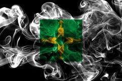 Bandera federal del humo de Distrito, Ciudad de México foto de archivo