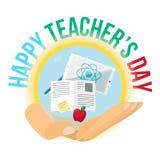Bandera feliz de la celebración del día de los profesores stock de ilustración