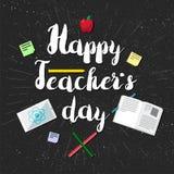 Bandera feliz de la celebración del día de los profesores ilustración del vector