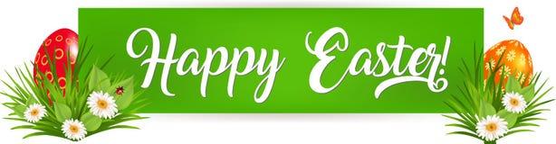 Bandera feliz de Pascua stock de ilustración