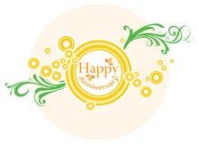 Bandera feliz del aniversario Imagen de archivo libre de regalías