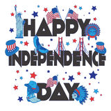 Bandera feliz del Día de la Independencia Fotografía de archivo libre de regalías