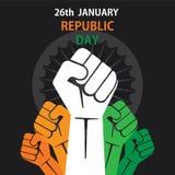Bandera feliz del día de la república Imagen de archivo