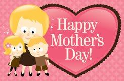 Bandera feliz del día de madre - Blonde libre illustration