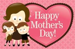 Bandera feliz del día de madre - caucásico stock de ilustración
