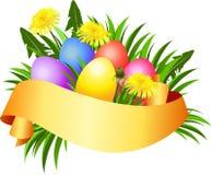Bandera feliz del día de Pascua Fotografía de archivo libre de regalías