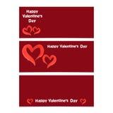 Bandera feliz del día de tarjetas del día de San Valentín Fotos de archivo