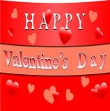 Bandera feliz del día de tarjetas del día de San Valentín Foto de archivo libre de regalías