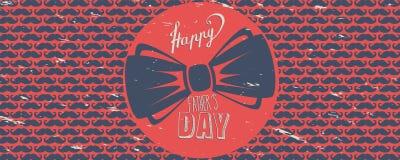 Bandera feliz del día del ` s del padre libre illustration