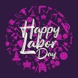 Bandera feliz del D?a del Trabajo Modelo del dise?o Ilustraci?n del vector libre illustration