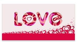 Bandera feliz del rojo del día del ` s de la tarjeta del día de San Valentín Foto de archivo