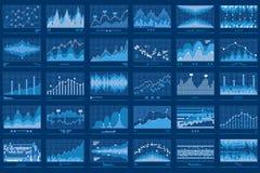 Bandera financiera del azul de las cartas de los datos de negocio libre illustration