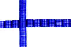 Bandera Finlandia foto de archivo
