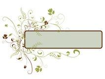 Bandera floral ilustración del vector